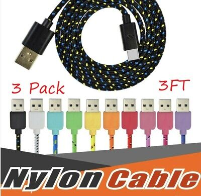 USBC TYPE C USB-C Charging Sync & Charger Cable Cord Samsung Galaxy S8 9 3x/3FT