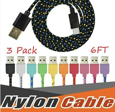 USBC TYPE C USB-C Charging Sync & Charger Cable Cord Samsung Galaxy S8 9 3x/6FT