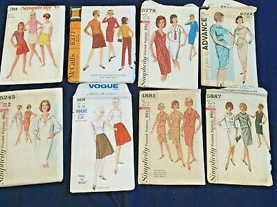 Lot of 67 Vintage  60s-90s Sewing Patterns Vogue Butterick Simplicity McCall
