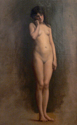 """perfect 24x36 oil painting handpainted on canvas """"a naked woman """"@N10169"""
