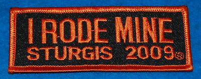 I Rode Mine Sturgis 2009 Embroidered Patch (Orange), New