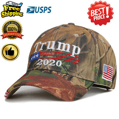 Donald Trump Camouflage Cap USA Flag Keep America Great MAGA Hat President 2020