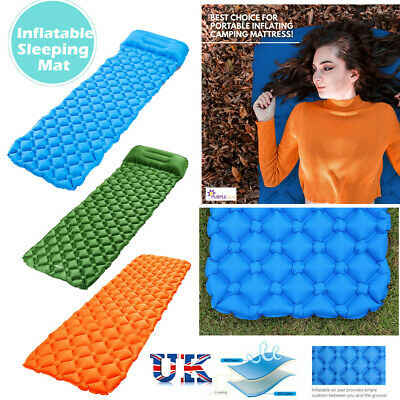 Outdoor Ultralight Inflatable Sleeping Mat Camping Air Pad Roll Bed Mattress Pad