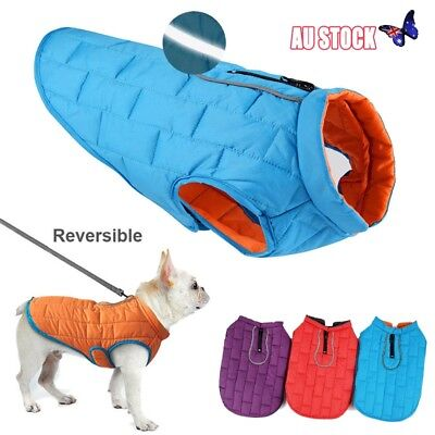 Large Waterproof Warm Autumn Winter Dog Coats Clothes Padded Vest Jacket For Pet