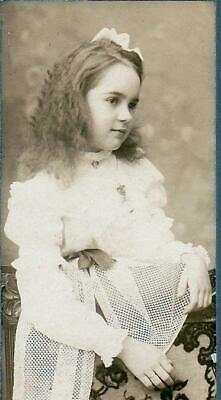 Bernice A. Shattuck Cabinet Photo of Beautiful Girl Age 10 - Milford, NH (1902)