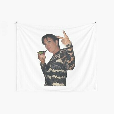 Kris Jenner Peace Sign Wall Tapestry