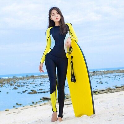 Quick Dry Surfing Wetsuit Hooded Women Long Sleeve Conjoined Swimsuits Keep Warm