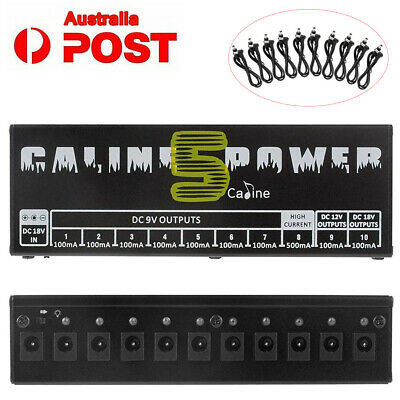 Caline CP-05 10CH Guitar Pedal Board Effect Power Supply Isolated Output 9V/12V-