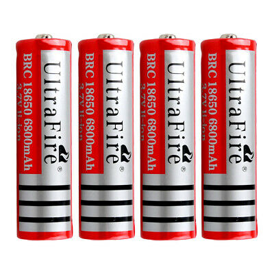 4X New Ultrafire 18650 3.7V Rechargeable Lithium Battery Li-ion Batteries AU