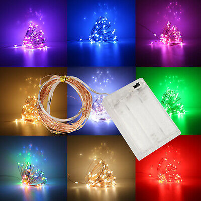 LED String Copper Wire Fairy Lights Battery Powered Xmas Party DIY Light
