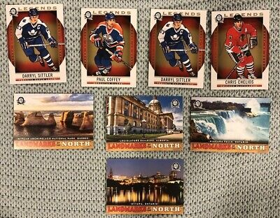 2018-19 OPC Coast To Coast 8 Card Landmarks of the North/Legends Lot