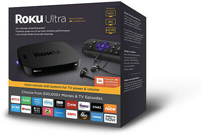 Roku Ultra   HD 4K HDR Streaming Media Player. Now Includes Premium JBL (2018)