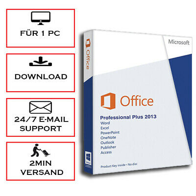 Office 2013 Professional Plus (PRO PLUS), 32&64 Bits - Blitzversand per E-Mail