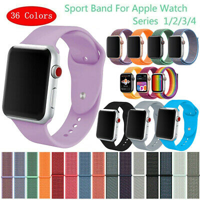 Sports Silicone Band Strap For Apple Watch iWatch Series 1/2/3/4 38/42/40/44mm