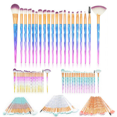 20PCS Diamond Unicorn Makeup Brush Kit Eyeshadow Eyebrow Blending Brush Cosmetic