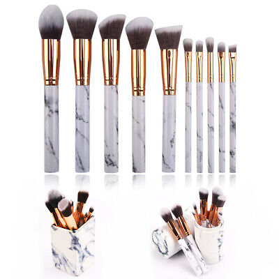 10pcs Kabuki Style Profess Make up Brush Set Foundation Blusher Face Powder Tool