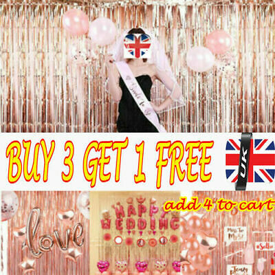 2-3M Foil Fringe Tinsel Shimmer Curtain Door Wedding Birthday Party DECOR RE, UK