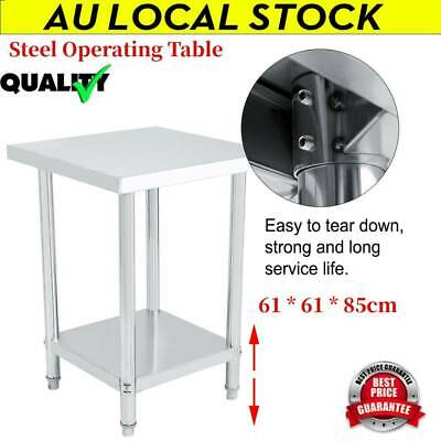 Double Layer Commercial Stainless Kitchen Work Bench Top Food Grade Prep Table