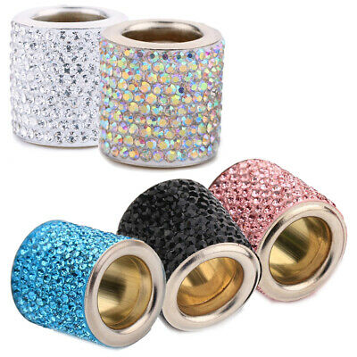 Crystal Diamond Car Seat Headrest Decorative Ring Bling Replacement Accessories