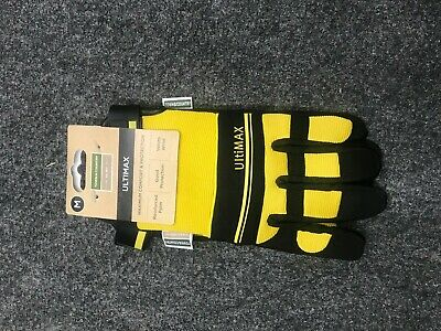 Town & Country Mens Medium Deluxe Ultimax Gardening Gloves  YELLOW New