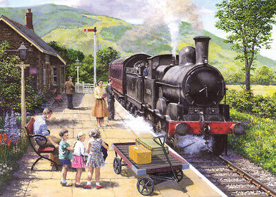 Gibsons All Aboard To Keswick 1000 Piece Jigsaw Puzzle Train G6272 New 2019