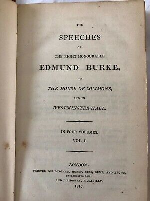 Speeches Of Edmund Burke The House Off Commons Westminster Hall