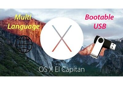 ✅Mac OS X El Capitan 10.11 - Bootable USB (Recovery,Upgrade,Fresh Install)