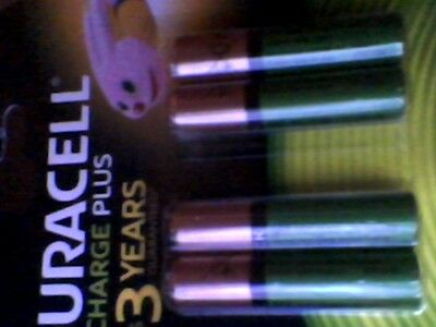 4  Duracell AAA 750 mAh Rechargeable Batteries NiMH New Sealed free postage