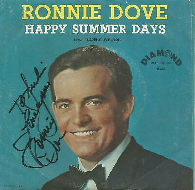 Lot of Forty Pop 45s  50's and 60's  Ronnie Dove Autographed Picture Sleeve