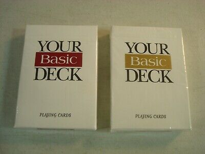 Your Basic Deck Poker Size Playing Cards