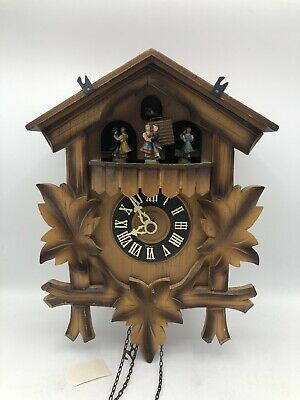 Cuckoo clock with dancers Black Forest musical