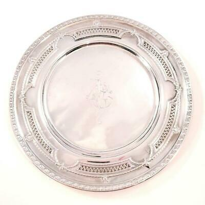 "Antique Pierced Sterling 6"" Plate Tray Wallace"