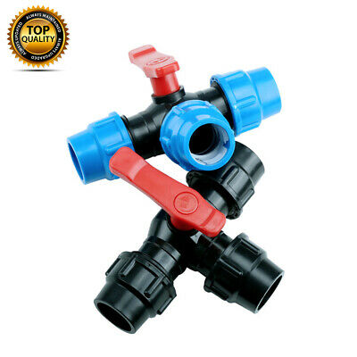 Mdpe Compression Tee With Valve For Water Pipe 20Mm 25Mm 32Mm 40Mm 50Mm