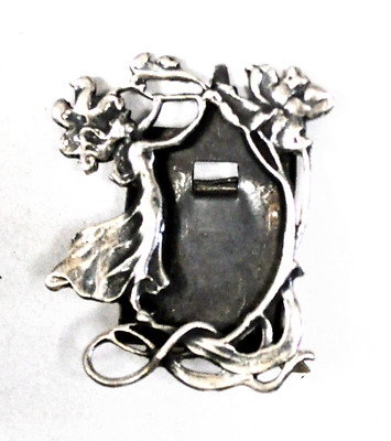 Sterling Silver Floral Flower Small Modernist Picture Frame 26mm x 20mm Photo