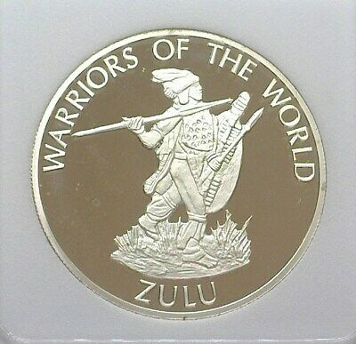 Warriors Of The World 2010 10 Francs -Zulu- Perfect Proof Deep Cameo