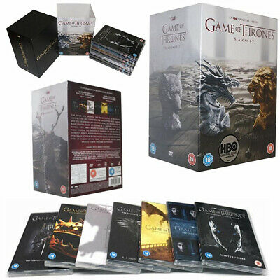 UK Stock GAME OF THRONES Season 1-7 Box Set Complete Series 1 2 3 4 5 6 7 DVD