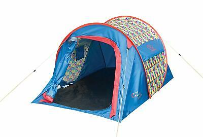 HIGHLANDER BIRCH 3 PERSON DOME TENT EASY PITCH CAMPING FESTIVALS CADET TANGO RED