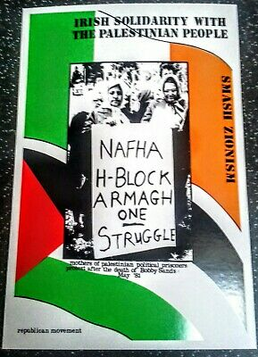 Irish Republican Postcard  Solidarity With The Palestinian People Smash Zionism