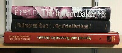 Lot: 3 Books on Bread: Flatbreads and Flavors, Italian Baker and MORE!