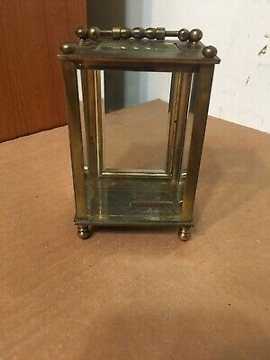 Antique Couaillet Freres Brass & Glass French Carriage Clock Display Case Parts