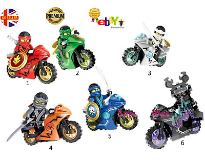NINJAGO NEW UK Seller Fits LEGO Ninja Movie Mini Figure & Motorbike Motorcycle