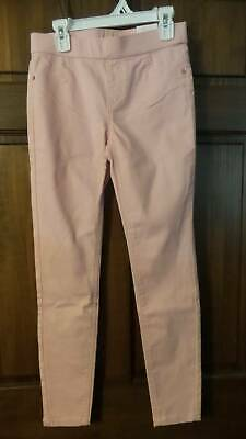 NWT ~ JUSTICE Light pink jeggings Legging Jeans Soft Stretchy Mid rise Girls 12