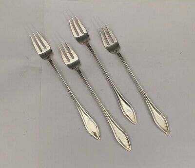 Set of 4 Antique Towle Sterling 1912 Mary Chilton Cocktail Fork Daniel Low & Co