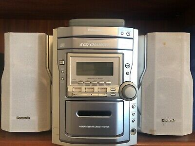 Panasonic 5 CD changer sterio system & auto reverse cassette deck with remote