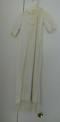 Antique Cotton Long Christening Gown Dress OLD