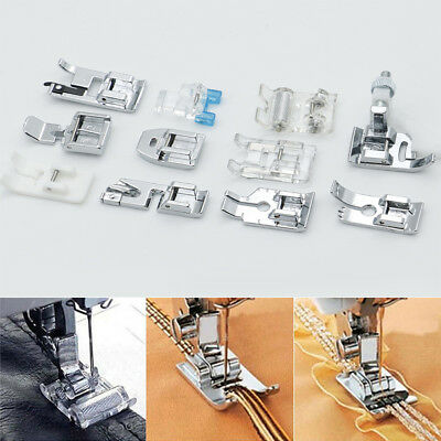 11pcs Multi Function Presser Foot Domestic SewingMachine Feet Accessories Set BI