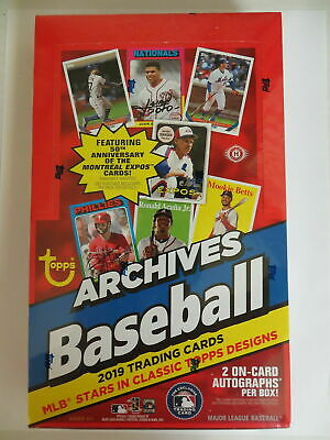 2019 Topps Archives Baseball Factory Sealed Hobby Box 2 Autographs