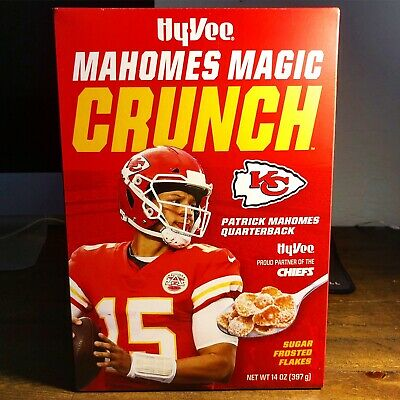 Patrick Mahomes Magic Crunch HyVee Cereal! LIMITED COLLECTORS Box NEW! Chiefs