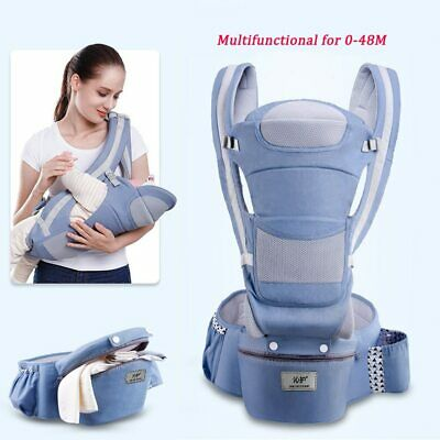 Ergonomic Baby Carrier Infant Baby Hipseat Kangaroo Baby Wrap Sling for Baby Tra