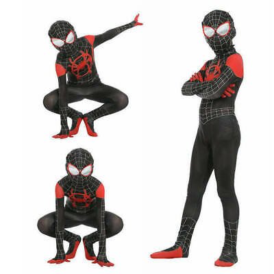 Spider-Man: Into the Spider-Verse Miles Morales Kids Boys Cosplay Costume Zentai